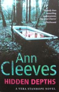 """""""Hidden Depths"""" by Anne Cleeves (book cover)"""