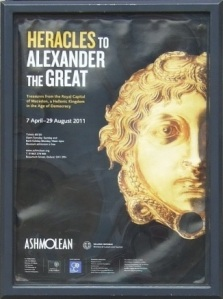 From Heracles to Alexander exhibition poster Ashmolean Museum