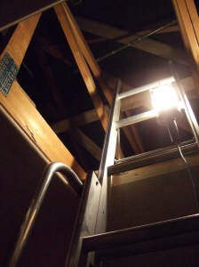 Ladder going into attic