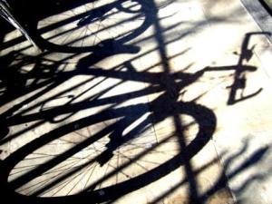 Bicycle wheels (shadow)
