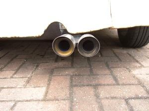 Car wheels and exhaust
