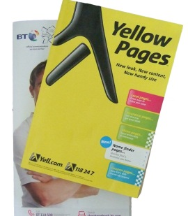 Yellow Pages and BT Phone Book