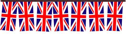 A row of Union flags