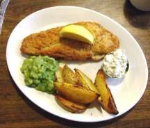 Hughenden Manor, Buckinghamshire - plate of fish and chips