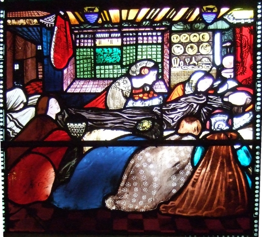 St Frideswide on her deathbead