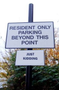 Residents Only - Just Kidding