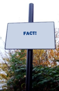 "Raod sign ""FACT!"""