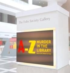 Murder in the Library exhibition poster