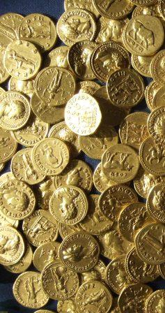 Gold coins (Ashmolean Museum)