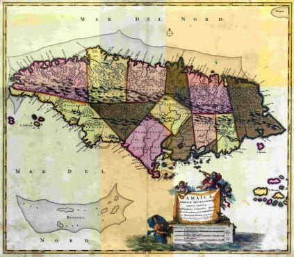 Map of Jamaica in 1680