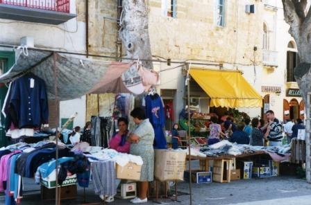 Market stalls in Malta