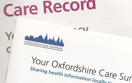 Leaflets about NHS care records