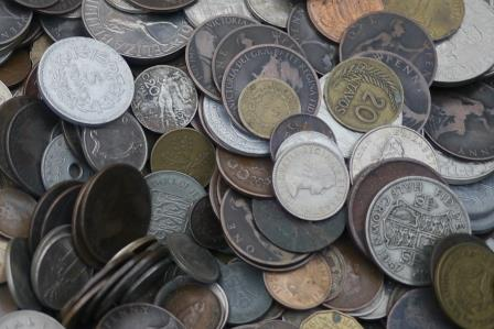 Mixture of old coins
