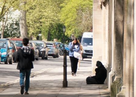 Homelss man in St Giles, Oxford