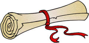 Rolled scroll