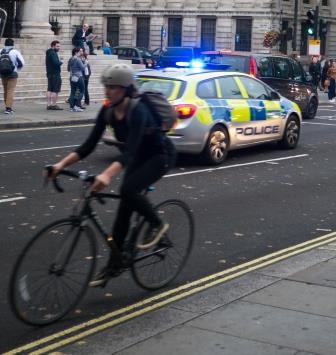 Police car London