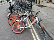 Dockless bikes - Oxford 2018 (28th August)